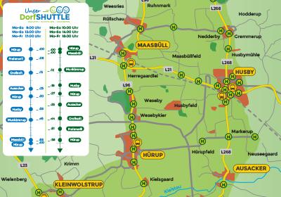 DorfSHUTTLE Karte